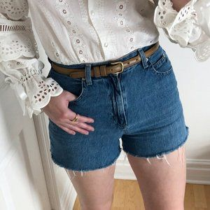 Vintage Denim Distressed High Waisted Jean Shorts